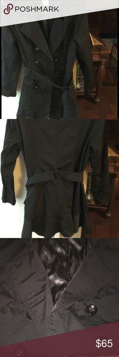 Black raincoat Black dolly raincoat absolutely adorable Jackets & Coats Trench Coats