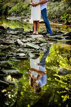 Pictures engagement portraits in a creek with a reflection at Turtle Creek Park in Highla. engagement portraits in a creek with a reflection at Turtle Creek Park in Highland park Couple Photography, Photography Poses, Wedding Photography, Unique Couples Photography, Couple Posing, Couple Portraits, Maternity Pictures, Pregnancy Photos, Water Maternity Photos