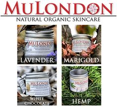 MuLondon Organic skincare products. Hand-made in London. Only the finest and where possible certified organic ingredients are used. All products are 100% vegan and are registered by The Vegan Society.