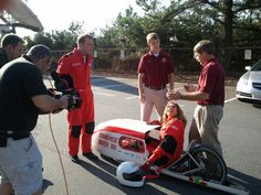 Stephanie Abrams and Mike Bettes go racing today at The Weather Channel