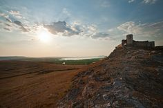 The medieval Genoese fortress Enisala, Danube Delta