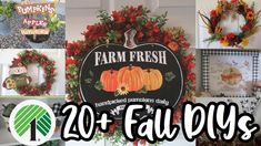 20+ Dollar Tree Fall DIYS | The Best of Fall Home Decor | - YouTube Dollar Tree Fall, Dollar Tree Decor, Dollar Tree Crafts, Diy Arts And Crafts, Fall Crafts, Christmas Crafts, Diy Crafts, Fall Home Decor, Autumn Home