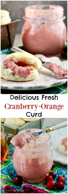 This creamy and delicious cranberry orange curd is easy to make and the perfect food gift to share with your family and friends during the holidays!