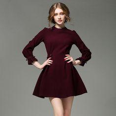 Vestidos para mujer » vestidoscolorvino2017-1