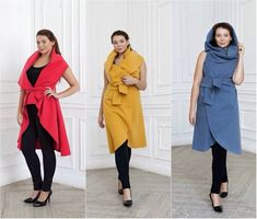 Master class: how to stitch a fashionable Cape-transformer in two accounts . Envy to all my friends! No Sew Cape, Master Class, Diy Clothes, Sewing Patterns, Poncho Patterns, Duster Coat, Fashion Dresses, High Neck Dress, Fancy