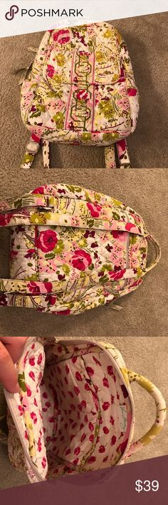 """Vintage Vera Bradley Mini Backpack Mini Vera Bradley backpack. Gently worn, in great condition. No frays or scratches anywhere. Backpack 13"""" tall. Vera Bradley Bags Backpacks"""