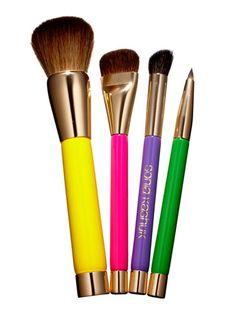 30 Days of Fun Spring Makeup: Perk up your makeup bag with this set of four mini brushes. Sonia Kashuk Native Beauty 4-Piece Brush Set, $16.99.