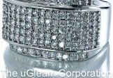 Mens Silver Tone Iced Out Rings