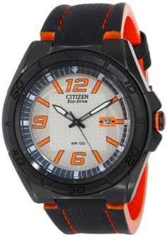 Citizen Mens AW138503H Drive From Citizen EcoDrive BRT Analog Display Black Casual Watch *** Want to know more, click on the image.