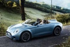 Mini have unveiled the beautiful Superleggera Vision, a perfectly designed roadster. Created by MINI and Touring Superleggera, the unique model blends Italian flair with MINI's elegant and authentic British styling to create timeless aesthetic appeal Mini Superleggera, Supercars, Jaguar, New Mini Countryman, Mini Clubman, Royce, Convertible, Roadster, Peugeot