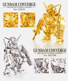 FW GUNDAM CONVERGE THE ART OF GUNDAM -LIMITED- ver. GOLD (純金製ガンダムコンバージ) 価格:¥3,780,000(税込) 素材:純金(K24)、約220g サイズ:全長約55mm  ver. SILVER (銀製ガンダムコンバージ) 価格:¥270,000(税込) 素材:銀(Ag950)、約120g サイズ:全長約55mm 製造元:田中貴金属ジュエリー 『機動戦士ガンダム展 THE ART OF GUNDAM』会場にて受注販売