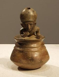 vessel with a reclining figure - ARTWORLD - VADS: the online resource for visual arts Ancient Aliens, Ancient Art, Ecuador, Hispanic Culture, Mesoamerican, Ceramic Figures, Inca, Porcelain Ceramics, Tribal Art