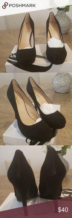 Nine west suede black pumps..brand new Nine west black suede pump..size 9..brand new..with box..never worn Nine West Shoes Heels