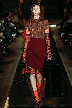 Move over dress over pants....here is the the VERY advanced skirt over dress courtesy of Ricardo Tischi at Givenchy Spring 2017 Ready-to-Wear Collection - Vogue