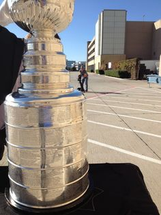 The Cup gets one on one time with the camera.