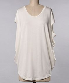 Look what I found on #zulily! Cream Side-Drape Tunic - Women #zulilyfinds