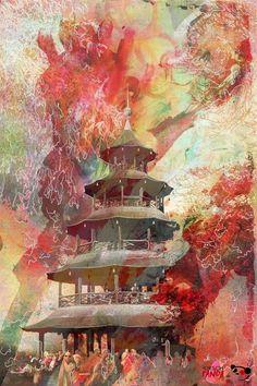Jens Hirsch: 'Chinesischer Turm', Englischer Garten / München ('Chinese Tower', Munich)