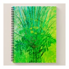 Bouquet from the Finnish Bay, floral art, green Notebook ($19) ❤ liked on Polyvore featuring home, home decor, wall art, impressionist, spike, flower painting, flower stem, floral wall art, green painting and flower wall art