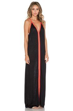 Pitusa Inca Sun Dress in Black & Fuchsia   REVOLVE