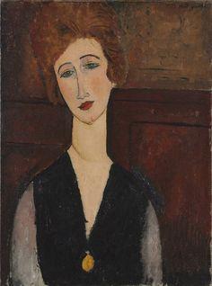 Portrait of a Woman  Amedeo Modigliani (Italian, 1884-1920). Cleveland Art…