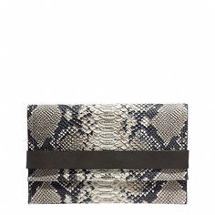 BLEECKER CLUTCH IN PYTHON EMBOSSED LEATHER