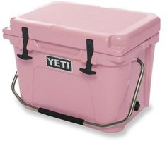 A special edition YETI Roadie Cooler.
