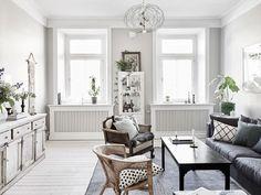 Arredare piccoli spazi: armonia in verde, grigio e blu