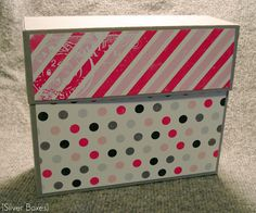Great tutorial for making a box from 2 sheets of 12 x 12 paper to hold homemade cards.