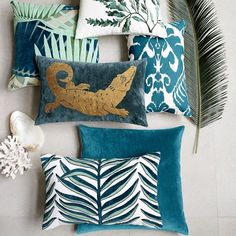 Sea Kelp French Knot Pillow Cover, Teal | Williams Sonoma