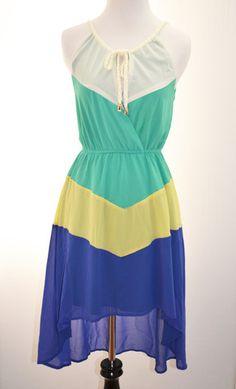$36 Colorblocked Halter Dress