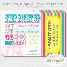 Carnival Circus Birthday Party Invitation by SugarTotDesigns, $12.00