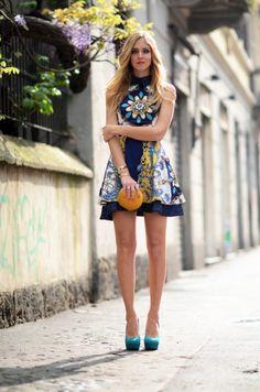 Flower Dress: chiara-ferragni