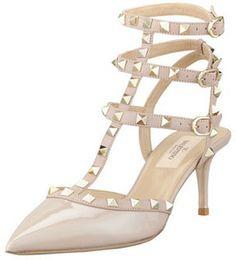 Valentino Rockstud Patent Leather Sandal