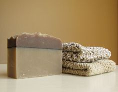 Limited time SOAPY sale!  SALE Spicy Brown Soap/Washcloth Eco Friendly Gift by HappyChoice, $10.99