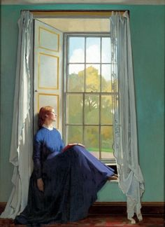 Sir William Orpen (Irish Painter, 1878-1931)    The Window Seat