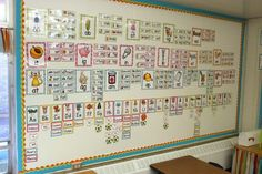 What does your word wall look like? This one is FULL of word families and sight words! Great use of Wall Space.
