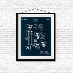 Otoscope Patent Print- 1927 - Poster Wall art Illustration Print Art Home Decor…