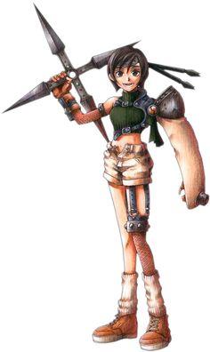Final Fantasy VII 7 Yuffie Kisaragi cosplay Prop Tool black Ninja Giant Wooden