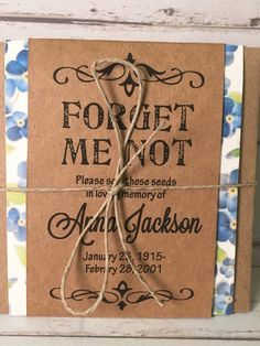 Funeral Forget Me Not Seed Packets by GetHappyCreations on Etsy