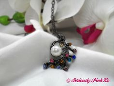 Pearl and multicolor rhinestones in sea plant form...$1.00 at Seriously Pink