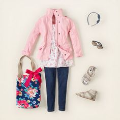 This is such a cute outfit that would be flattering on any little girl!