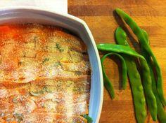 lasagna di taccole e carote alle erbette aromatiche