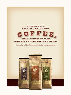 Mission Bean Coffee print ads