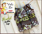 Rachel - Ruffle Pillowcase Dress Top, wear with Capris, Pants, Skirts. Girl's PDF Sewing Pattern. Toddler Sizes 2t-5t. $6.00, via Etsy.