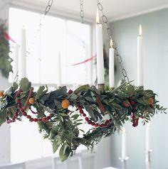 hanging advent wreath