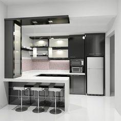 desain dapur persegi - Penelusuran Google #cocinaspequeñasmodernas