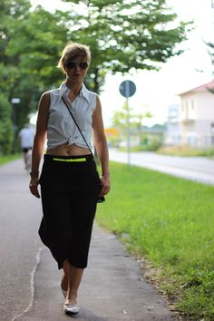 Culottes ... with a hint of neon