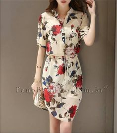 Trendy x 2 ~ Shirt Dress + Romantic Floral Dresses Cute Dresses, Beautiful Dresses, Casual Dresses, Short Dresses, Casual Outfits, Summer Dresses, Floral Dresses, I Dress, Dress Outfits