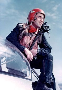 James Jabara. Born in Muskogee, OK. The first US jet ace, distinguishing himself with the F-86 Sabre (as seen here) during the Korean War.