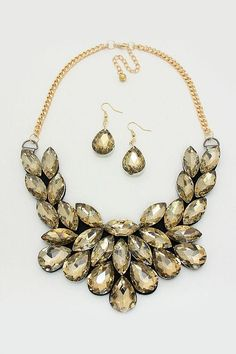 Crystal Brielle Statement Necklace